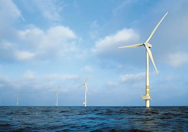 Off shore wind facility near Sweden